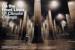 首都圏外郭放水路の調圧水槽、TIME誌での掲載例